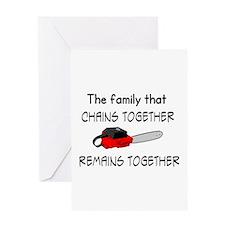 Cute Chainsaw Greeting Card