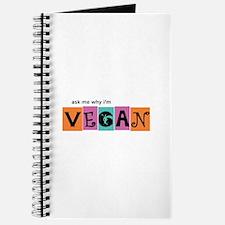 Ask me why I'm vegan Journal
