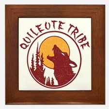 Quileute Tribe Wolves Framed Tile