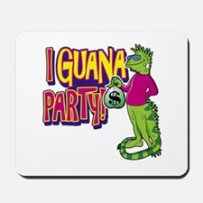 Iguana Party Mousepad