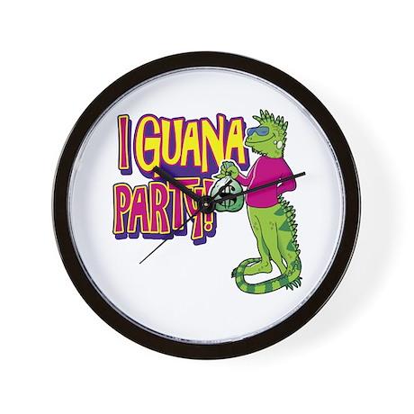 Iguana Party Wall Clock