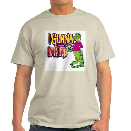 Iguana Party Ash Grey T-Shirt