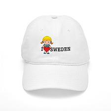 Cute I love swedish girls Baseball Cap