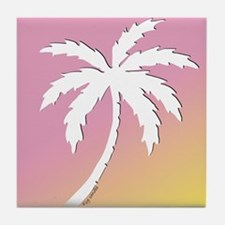 Single Palm Tile Coaster