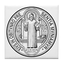 St. Benedict Exorcism Tile Coaster