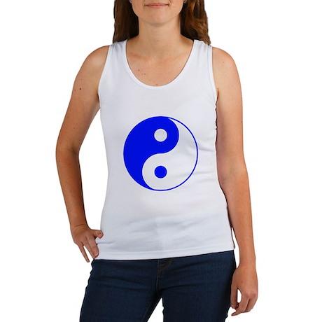 Blue Yin Yang Symbol Women's Tank Top
