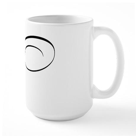 """Letter """"V"""" (Cursive Initial) Large Mug"""