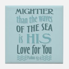 Psalms 93-4 Tile Coaster