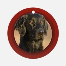 Flat-Coated Retriever Red Round Ornament
