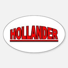 """Hollander"" Oval Decal"