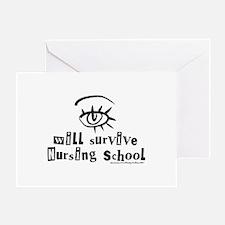 Survive Nursing School Greeting Card