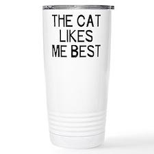 The Cat Likes Travel Mug