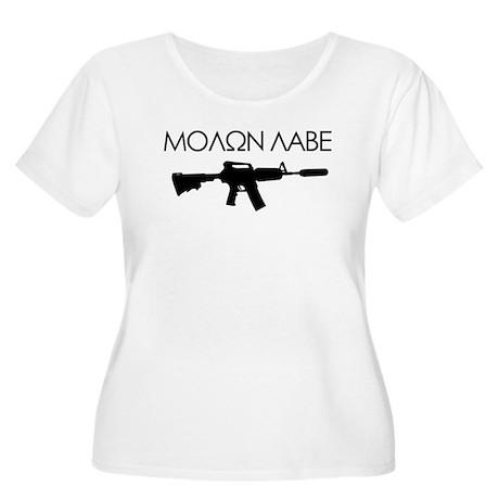 Molon Labe (Rifle) Women's Plus Size Scoop Neck T-