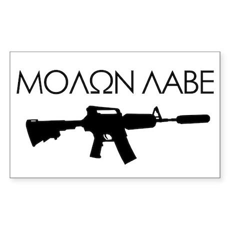 Molon Labe (Rifle) Sticker (Rectangle)