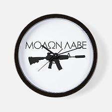 Molon Labe (Rifle) Wall Clock