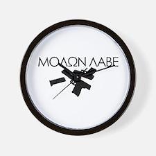 Molon Labe (Multi Guns) Wall Clock