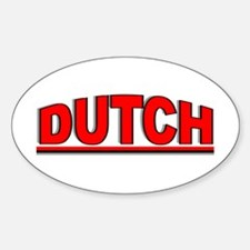 """Dutch"" Oval Decal"