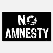 No Amnesty Sticker (Rectangle)