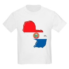 3D Paraguay Map T-Shirt
