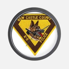New Castle County Police K9 Wall Clock