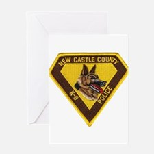 New Castle County Police K9 Greeting Card