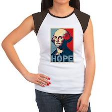 George Washington HOPE T-shirt Women's Cap Sleeve