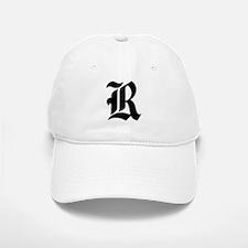 """Letter """"R"""" (Gothic Initial) Baseball Baseball Cap"""