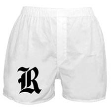 "Letter ""R"" (Gothic Initial) Boxer Shorts"