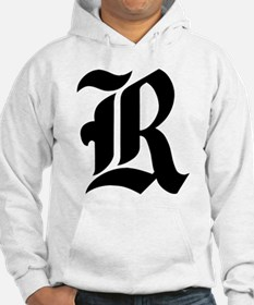 "Letter ""R"" (Gothic Initial) Hoodie"