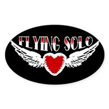 Flying Solo Oval Decal