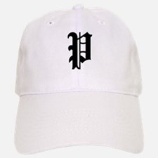 """Letter """"P"""" (Gothic Initial) Baseball Baseball Cap"""