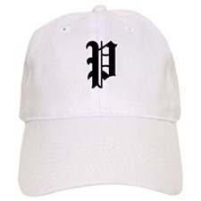 "Letter ""P"" (Gothic Initial) Baseball Cap"
