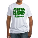 Kiss My Blarney Stone Fitted T-Shirt