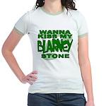 Kiss My Blarney Stone Jr. Ringer T-Shirt