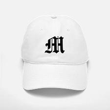 """Letter """"M"""" (Gothic Initial) Baseball Baseball Cap"""