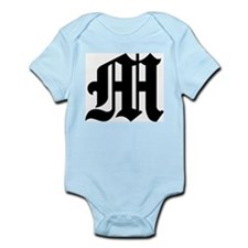 """Letter """"M"""" (Gothic Initial) Infant Creeper"""