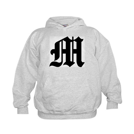 """Letter """"M"""" (Gothic Initial) Kids Hoodie"""