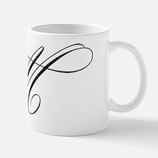 "Letter ""M"" (Cursive Initial) Mug"