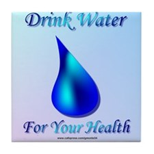 Drink Water Tile Coaster