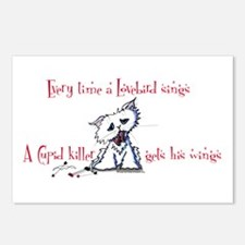 Cupid Killer Kitty Postcards (Package of 8)