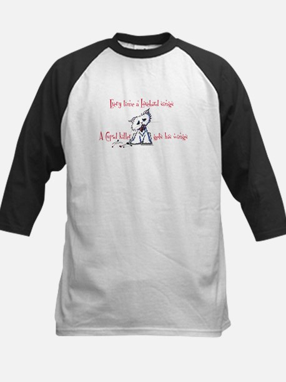 Cupid Killer Kitty Kids Baseball Jersey