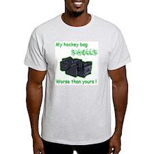 My Hockey Bag Smells Ash Grey T-Shirt