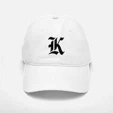 """Letter """"K"""" (Gothic Initial) Baseball Baseball Cap"""