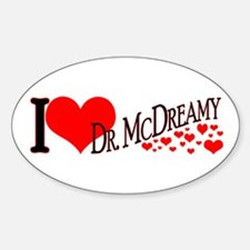 I <3 McDreamy Oval Decal