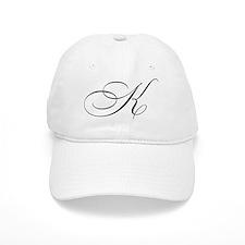 "Letter ""K"" (Cursive Initial) Baseball Cap"