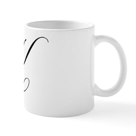"Letter ""K"" (Cursive Initial) Mug"