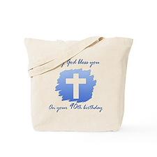 Christian 90th Birthday Tote Bag
