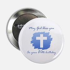 "Christian 80th Birthday 2.25"" Button"