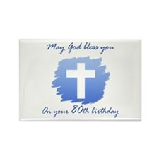 Christian 80th Birthday Rectangle Magnet