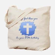 Christian 80th Birthday Tote Bag